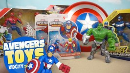 Marvel Avengers Toys Opening With Playskool Spiderman Toys And Superhero Mashers