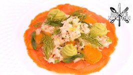 Crab And Smoked Salmon With Avocado, Fennel And Apple / Low Carb Recipe