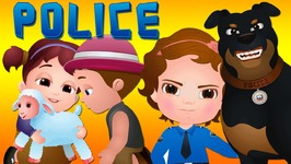 ChuChu TV Police Chase Thief in Police Car to Save Mary's Little Lamb - ChuChu TV Surprise Eggs Toys