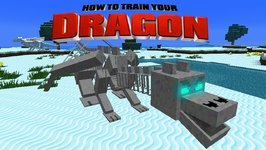 Minecraft - HOW TO TRAIN YOUR DRAGON - Skeletal Dragon War 33
