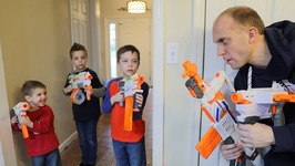 Nerf War - Parents vs Kids 5