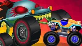 Aquatic World 2 - Haunted House Monster Truck - Cartoon Videos For Children - Kids Channel