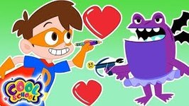 Drew SAVES Valentines Day- A Stupendous Drew Pendous Superhero Story - Cartoons for Kids