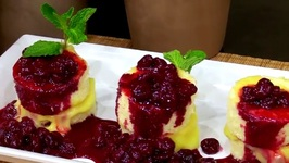 Chef Michael Adams- Lemon Chiffon With Lemon Curd And Sour Cherries Vignette