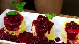 Chef Michael Adams- Lemon Chiffon With Lemon Curd And Sour Cherries Vignette