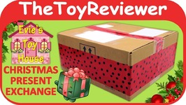 Evies Toy House Christmas Present Exchange Gift Surprise Open Unboxing Toy Review