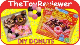 Kracie Happy Kitchen Donut DIY Candy Kit Popin Cookin Japan Unboxing Toy Review