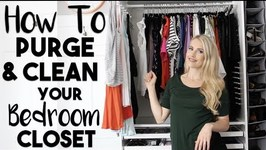 20 Ways to Clean, Purge and Organize Your Bedroom Closet that are Borderline GENIUS!!