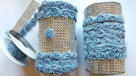 UPCYCLED CAN USING DENIM & BLING