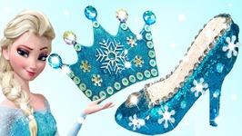 Play Doh Sparkle Disney Princess Frozen Elsa High Heel Crown Anna Magiclip  Dolls FunToys for Kids