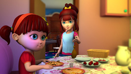 Elsa Teaches Anna Table Manners-Children Learning Songs and Original Songs for Kids