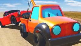 Tow Truck Helps Vehicles - Cartoon For Children