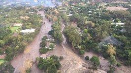 Aerial Images Show Vast Destruction Following California Mudflows