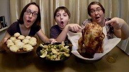 Chicken On The Bottle And Cheesy Bites With A Twist / Gay Family Mukbang - Eating Show