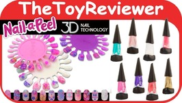 Nail-a-Peel 3D Deluxe Color Starter Kit Nail Polish Design Gel Unboxing Toy Review
