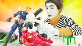 Pretend play in superhero laboratory Superheroes in real life