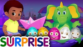Surprise Eggs Nursery Rhymes Toys - Learn How To Swim for Kids With Cutians