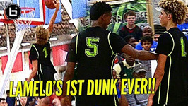 Lamelo Ball First In Game Dunk Ever Punches The One Hander