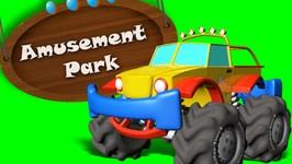 Monster Truck Tour To Amusement Park - The Day at Amusement Park