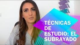 EL SUBRAYADO. TÉNICAS DE ESTUDIO