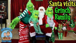SANTA VISITS GRINCH FAMILY - DEION'S PLAYTIME