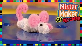 Pipe Cleaner Mouse - How To Make In 60 Seconds - Mister Maker