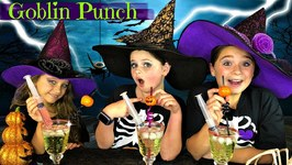 DIY Easy Halloween Treats - Ghostly Goblin Punch Recipe - So Yummy