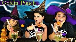 DIY Easy Halloween Treats - Ghostly Goblin Punch Recipe - So Yummy