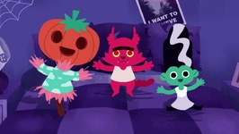5 Little Monsters Jumping on the Bed - Halloween Songs for Children - Songs for kids