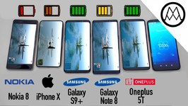 Samsung S9/ S9  vs iPhone X vs Galaxy Note 8 Battery Life DRAIN TEST