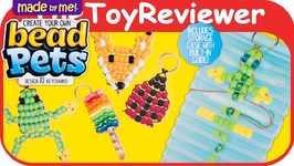 Made by Me Bead Pets & Keychain Kit Horizon Group Crafts Unboxing Toy Review