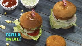 Corn And Chick Pea Burger