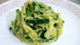 Zucchini Pasta With A Coconut-Guacamole Sauce - Rule Of Yum Recipe