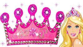 dc8ffb3d00f DIY Play Doh Sparkle Barbie Disney Princess Crown Dresses Shoes High Heels  Frozen Elsa Toys Kids