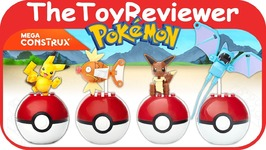 Mega Construx Pokemon Poke Balls Figures Bloks Lego Pikachu Unboxing Toy Review