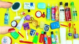 40 DIY Miniature Bathroom Accessories & Products - each in less than 1 min