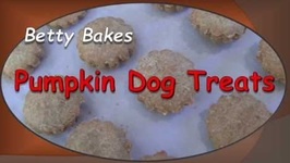 Betty Bakes Pumpkin Dog Treats
