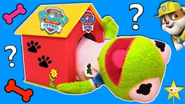 Who's in the PAW PATROL DOG HOUSE GAME? Surprise Toys Colors Matching Educational Games
