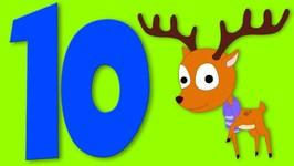 Number Song - Ten Little Reindeers