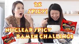 Nuclear Fire Ramen Noodles Challenge Mukbang Eating Show