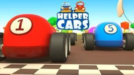 Helper Cars- Kids Cartoon- Cars and Trucks Race