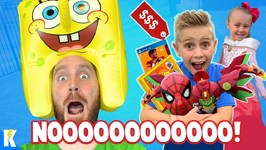 I Will Buy Whatever You Can Carry Challenge Kids Win Big Spider-Man Toys Gear Test