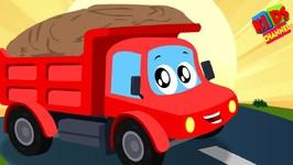 Little Red Car - Dump Truck Is Working - Nursery Rhymes For Kids