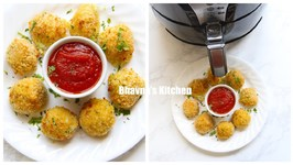 Cheesy Leftover Rice And Zucchini Balls In Habor Air Fryer Video Recipe