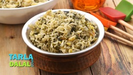 Palak Pulao, Palak Rice, Spinach Rice
