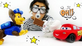 Best Funny Videos For Kids. Greedy Clown And Chocolate Lightning Mcqueen And Paw Patrol Toys