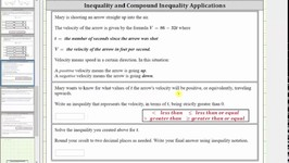 Inequality App - Velocity Of An Arrow  -a-bx greater than 0