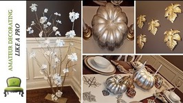 DIY Ombre Painted Pumpkins  Thanksgiving Tablescape Tour