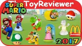 2017 Super Mario Kart McDonalds Happy Meal COMPLETE SET of 8 Unboxing Toy Review