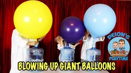 BLOWING UP A GIANT BALLOON - KIDS SCIENCE - DEION'S PLAYTIME